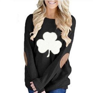 Leo Rosi Shamrock Sweater Top Black